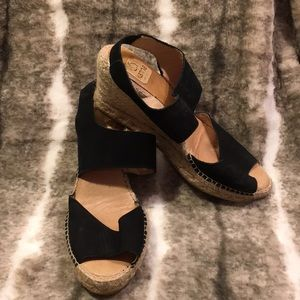 3 for 20 Kana Black Suede Wedges